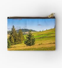 mountain rural area in late springtime Studio Pouch