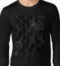 Mermaid scales. Black and white watercolor. Long Sleeve T-Shirt