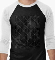 Mermaid scales. Black and white watercolor. Men's Baseball ¾ T-Shirt