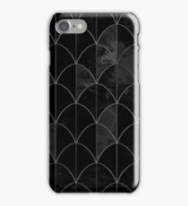 Mermaid scales. Black and white watercolor. iPhone Case/Skin