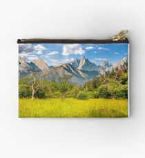 forest on grassy hillside in tatras Studio Pouch