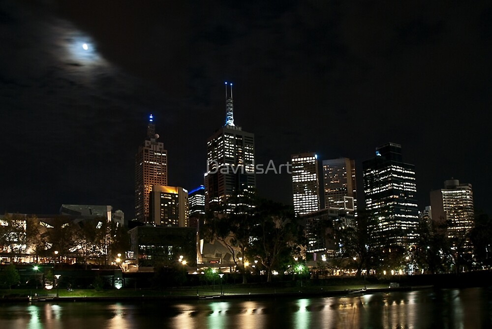 1151 Melbourne at night by DavidsArt