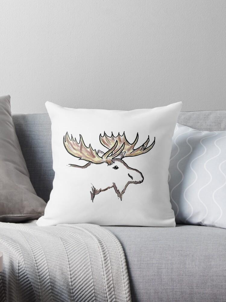 Simple artistic moose outline by artisticattitud