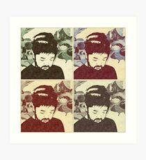 Nujabes Color (Split) Art Print