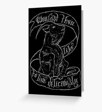 Black Phillip Greeting Card