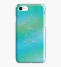 One line Magikarp art iPhone Case/Skin