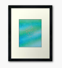 One line Magikarp art Framed Print