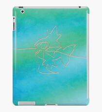 One line Magikarp art iPad Case/Skin