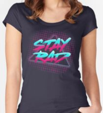 Stay Rad Women's Fitted Scoop T-Shirt