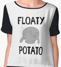Floaty Potato Manatee - Funny Manatees Sea Cow Gift Women's Chiffon Top