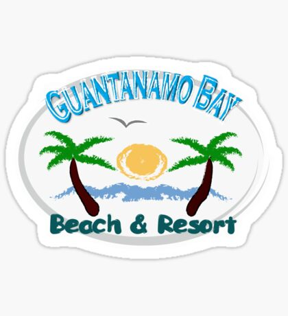 Guantanamo bay t-shirts Sticker