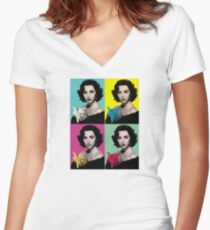 No one is you and that is your power Women's Fitted V-Neck T-Shirt