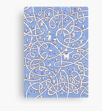 POP Art Blue Canvas Print