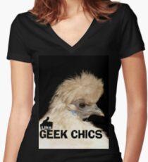 Like...Geek Chics!! - T-Shirt NZ Women's Fitted V-Neck T-Shirt