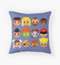 Street Fighter 2 Mini Throw Pillow