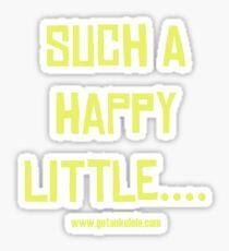 Happy Ukulele Sticker