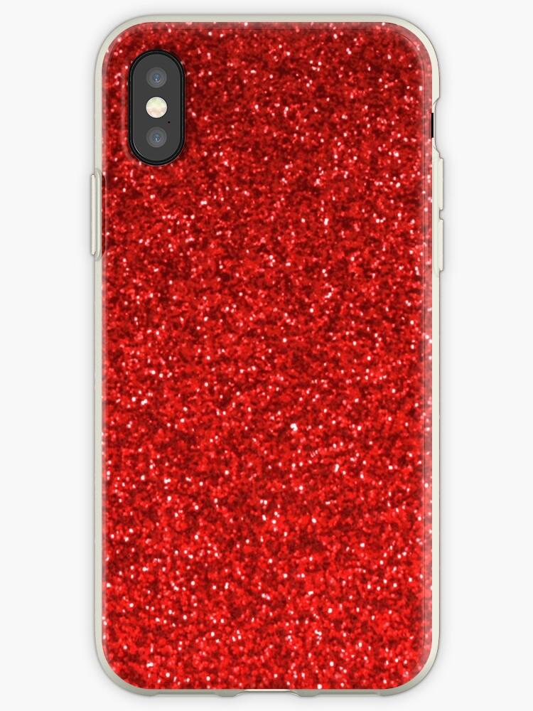 Red glitter design phone case by artisticattitud