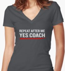 Softball Coach Funny Quote Sarcastic Fathers Gift Women's Fitted V-Neck T-Shirt