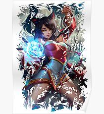 League of Legends - Ahri - Play time's over Poster