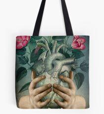 A Green Heart Tote Bag