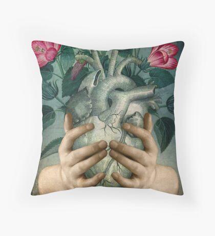 A Green Heart Throw Pillow