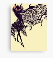 Goth Bat Canvas Print