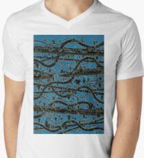 Negative POP Art Wavey Tubes Men's V-Neck T-Shirt