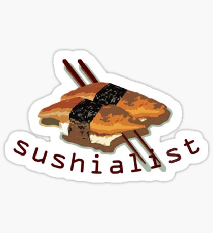 Sushialist t-shirts Sticker