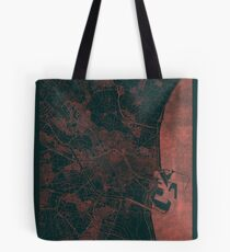 Valencia Map Red Tote Bag