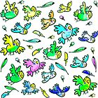 Budgerigar –  colorful little birds von Birgit Schiffer