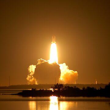 Shuttle Endeavor Night Launch. by 914studios