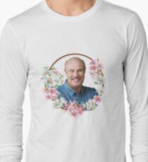 Dr. Phil - Blue Flower Frame Long Sleeve T-Shirt