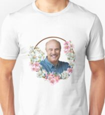 Dr. Phil - Blue Flower Frame Unisex T-Shirt