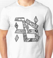 """""""Ahavah"""" - Hebrew Zentangle Unisex T-Shirt"""
