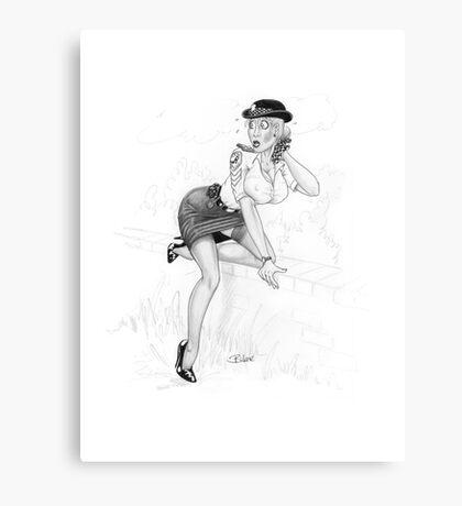 Hot Pursuit Canvas Print