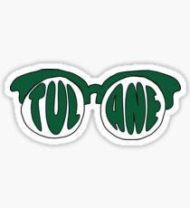 Tulane Sunglasses Sticker