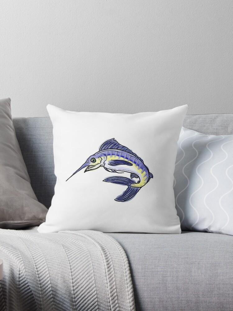 Blue marlin fish drawing by artisticattitud