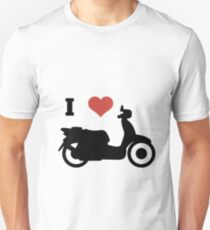 i love scooters funny gift idea Unisex T-Shirt