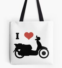 i love scooters funny gift idea Tote Bag
