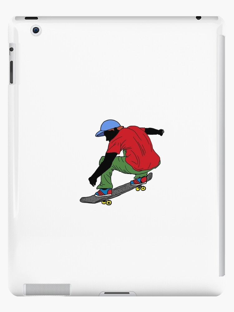 Red shirt skateboarder drawing by artisticattitud