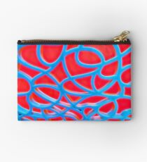 Red and Turquoise Maze Studio Pouch