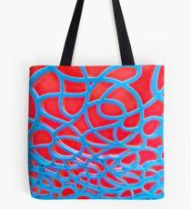 Red and Turquoise Maze Tote Bag