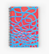 Red and Turquoise Maze Spiral Notebook