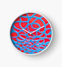 Red and Turquoise Maze Clock