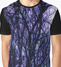 Dark Purple Forest Graphic T-Shirt