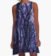Dark Purple Forest A-Line Dress