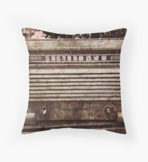 Old Vintage Radio Throw Pillow