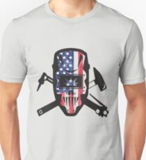 Welder USA Flag Design Unisex T-Shirt