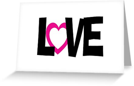 Simple pink black love word by artisticattitud