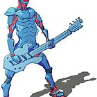 Cyborg bassist by dlikt